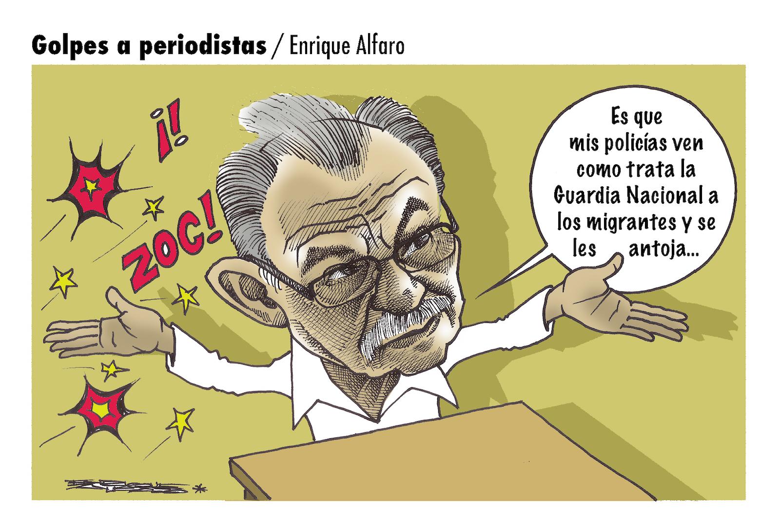 Golpes a periodistas / Enrique Alfaro