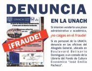Cero tolerancia a la corrupción en la UNACH