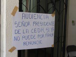 Inician huelga de hambre afuera de CNDH II (1)