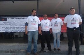 Inician huelga docentes de la Unich II