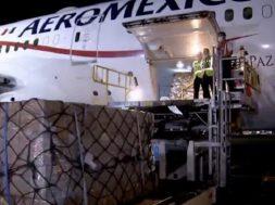 Llegan a México 10 toneladas de insumos médicos comprados a China