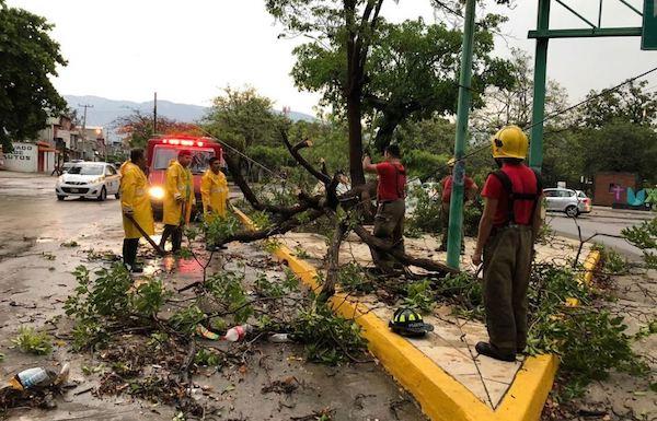 Protección Civil alista plan para temporada de lluvias y ciclones en Tuxtla Gutiérrez