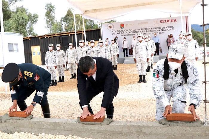 Arranca construcción de base de Guardia Nacional en SCLC