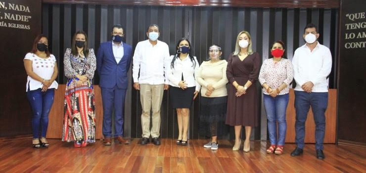 Mesa Directiva del Congreso se reúne con Tribunal Electoral de Chiapas