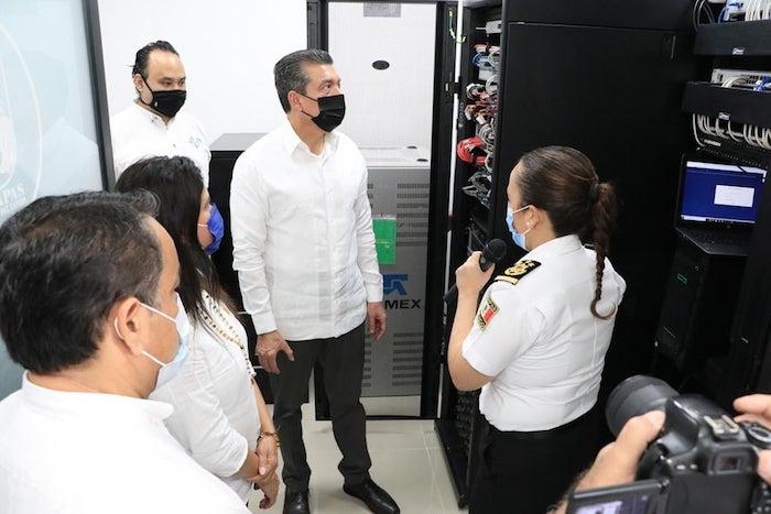 Inaugura Rutilio Escandón sistema de videovigilancia, en Palenque