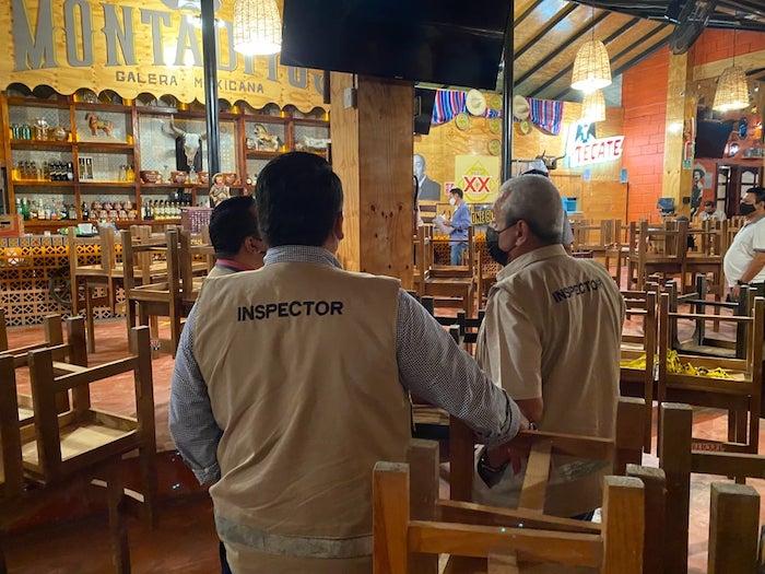 Realizan operativos anticovid en bares de Tuxtla Gutiérrez