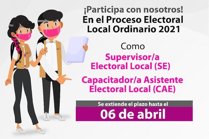 Convocatoria para Supervisores y Capacitadores Asistentes electorales estará disponible hasta el 6 de abril