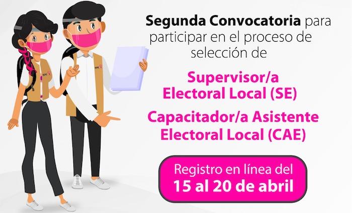 Invita IEPC a participar en la segunda convocatoria de Supervisores y Capacitadores Asistentes Electorales