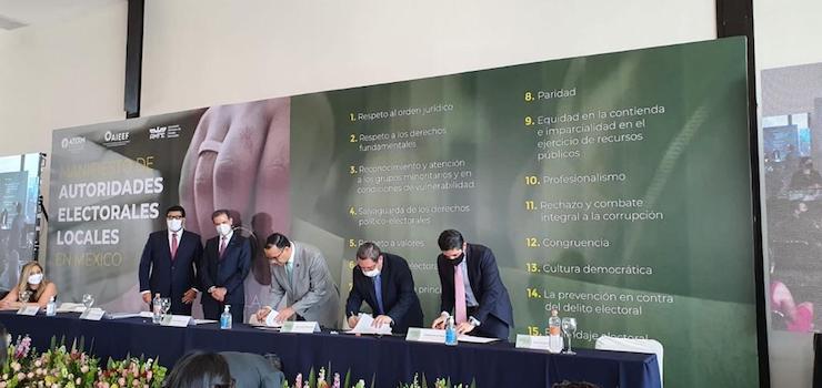Firman ATERM, AMFEMX y AIEEF Manifiesto Nacional de Autoridades Electorales Locales