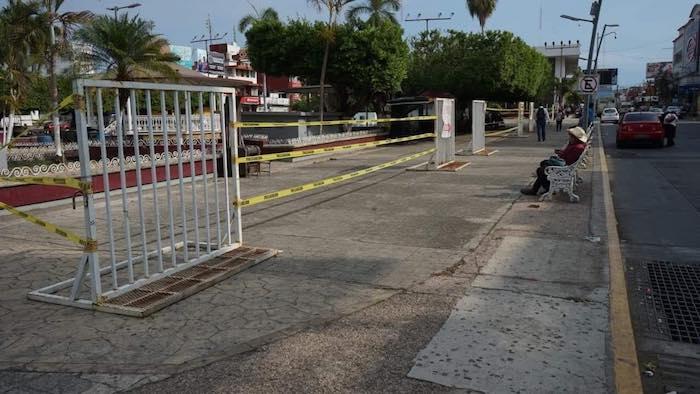 Cierran nuevamente parque central en Tapachula para evitar contagios