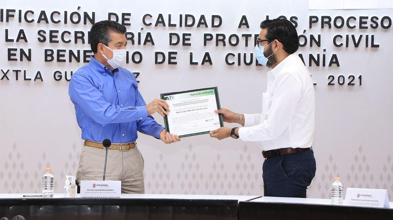 American Trust Register recertifica procesos de protección civil en Chiapas