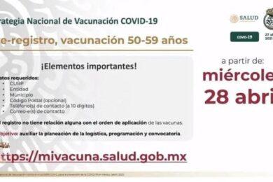 registro vacunas 50 59 años