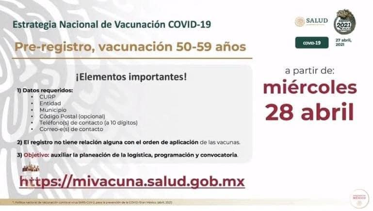 ¿Tienes entre 50 y 59 años? Registro para vacunación Covid se abre mañana