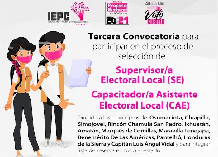 Ofrece IEPC empleos temporales como Supervisor/a y Capacitador/a Asistente Electoral
