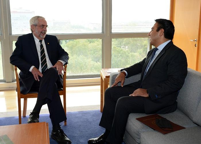 Se reúne ERA con rector de la UNAM, Enrique Graue