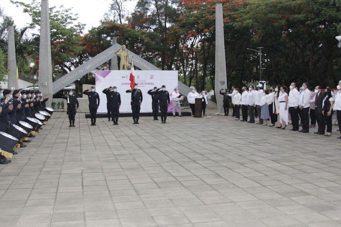 Con Acto Cívico, el IEPC inició actividades de la Jornada Electoral del 6 de junio