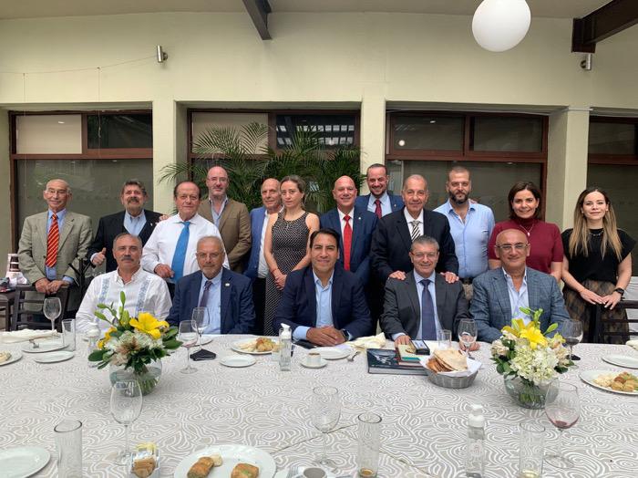 Eduardo Ramírez se reúne con comunidad libanesa en México